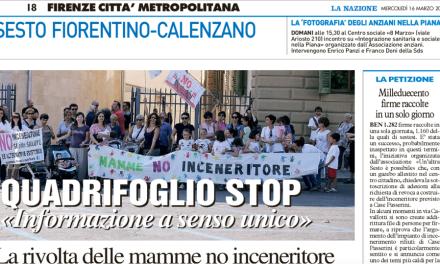 [RASSEGNA STAMPA] Articoli apparsi su La Nazione Firenze del 16/03/2016